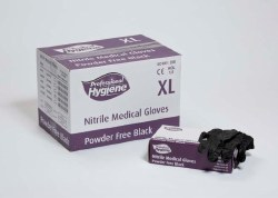 Nitrile Gloves P Free Large Black 100