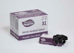 Nitrile Gloves P Free Large Black 100