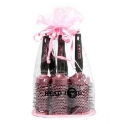 Head Jog Pink Ceramic Brush Set