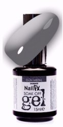 The Edge NailFX Soak Off Gel Gun Metal 15ml