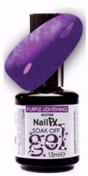 The Edge NailFX Soak Off Gel Purple Lightning 15ml