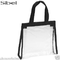 Sibel Clear Zip Bag Black Trim