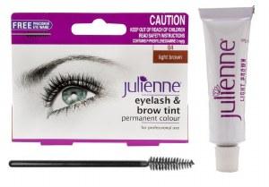 Julienne Eyelash and Eyebrow Tint Light Brown 15ml