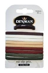 Denman No Slip Elastics Natural 10pk