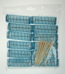 Comby Traditional Brush Rollers Blue 12pk