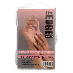 The Edge Natural Competition 100 Assorted White Nail Tips