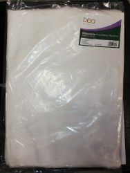 DEO Disposable Polythene Aprons (White)