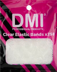 DMI Clear Elastic Bands x 250