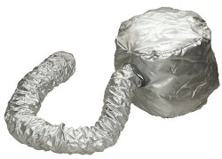 Dryer Hood Attachment Silver
