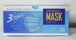 Disposable nonwoven face masks