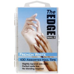 The Edge French White 100 Assorted Nail Tips