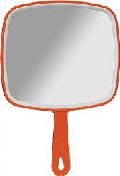 Hand Mirror in Red