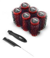 Kodo Lock and Roll Brush Set Red 45mm