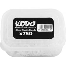 Kodo Box Elastic Bands Clear Box of 750