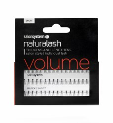 Salon System Naturalash Individual Eyelashes Flare Black Short
