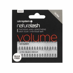 Salon System Naturalash Individual Lashes Flare Ultra Black Medium