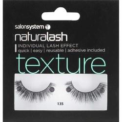 Salon Systems Naturalash 135 Black Texture Strip