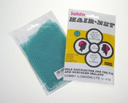 Solida Triangular-Honeycomb-Set Hair Net Turquoise