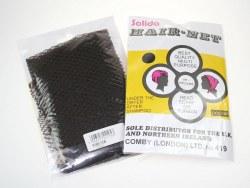 Solida Triangular-Honeycomb-Set Hair Net Brown