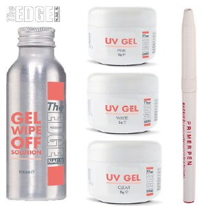 The Edge UV Gel trial pack with Wipe of solution