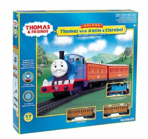 Bachmann Thomas & Friends OO 00642BE Thomas with Annie & Clarabel Train Set with Moving Eyes