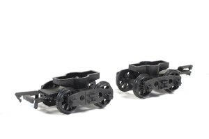 Parkside Models by Peco OO PA126 Pr. GWR Plate Wagon Bogies Spoked Wheels