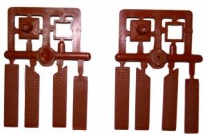 Ratio OO 140 Signal Box Chimney Mouldings pair