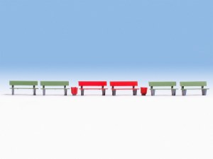 Noch OO 14848 Benches (HO Scale)
