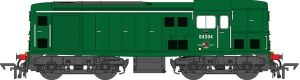 Heljan OO 1509 Class 15 D8204 in plain green with numbers on front and rear