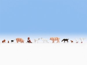 Noch OO 15711 Farm Animals (12) (HO Scale)