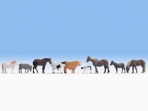 Noch OO 15713 Farm Animals (9) (HO Scale)