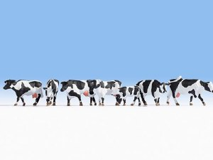 Noch OO 15725 Black & White Cows, 7 Figure Set