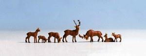 Noch OO 15730 Deer, 7 Figure Set