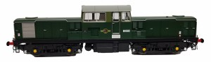 Heljan OO 1721 Class 17 BR Green with Small Yellow Panels D8502