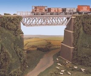 Ratio N 240 Steel Truss Bridge with stone piers