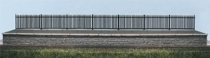 Ratio N 245 GWR Spear Fencing black straights