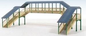Ratio N 248 Modular Covered Footbridge