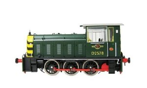 Heljan OO 2501 Class 05 D2578 BR Green with Wasp Stripes