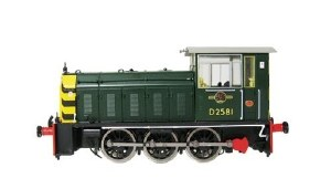 Heljan OO 2502 Class 05 D2581 BR Green with Wasp Stripes
