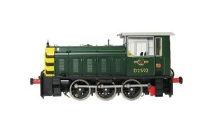 Heljan OO 2520 Class 05 D2592 BR Green with Wasp Stripes