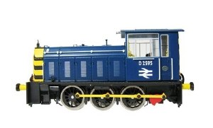 Heljan OO 2522 Class 05 D2595 BR Blue with Wasp Stripes