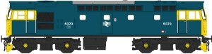 Heljan OO 2711 Class 27 5373 in blue with full yellow ends (no boiler tanks)