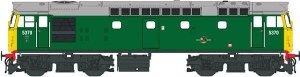 Heljan OO 2713 Class 27 5370 in green with full yellow ends (no boiler tanks)