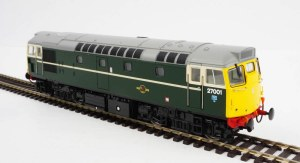 Heljan OO 2730 Class 27 27001 BR Green with Full Yellow Ends (V3) (Heavily Weathered)