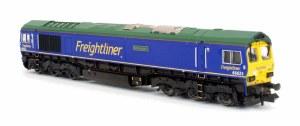 Dapol N 2D-007-010 Class 66 66623 Freightliner Blue Bill Bolsover