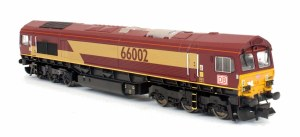 Dapol N 2D-007-011 Class 66 66002 EWS DB Brand with 6 Megafrets and 6 x 45' Russell Containers