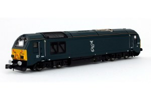Dapol N 2D-010-005 Class 67 67010 Caledonian Sleeper Blue