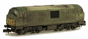 Dapol N 2D-012-009 Class 22 B-B D6316 BR Green with Small Yellow Panels Disc Headcodes Weathered