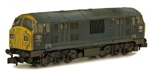 Dapol N 2D-012-012 Class 22 B-B D6330 BR Blue with Full Yellow Ends Weathered