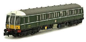 Dapol N 2D-015-002 Class 122 W55006 BR Green with Small Yellow Panels